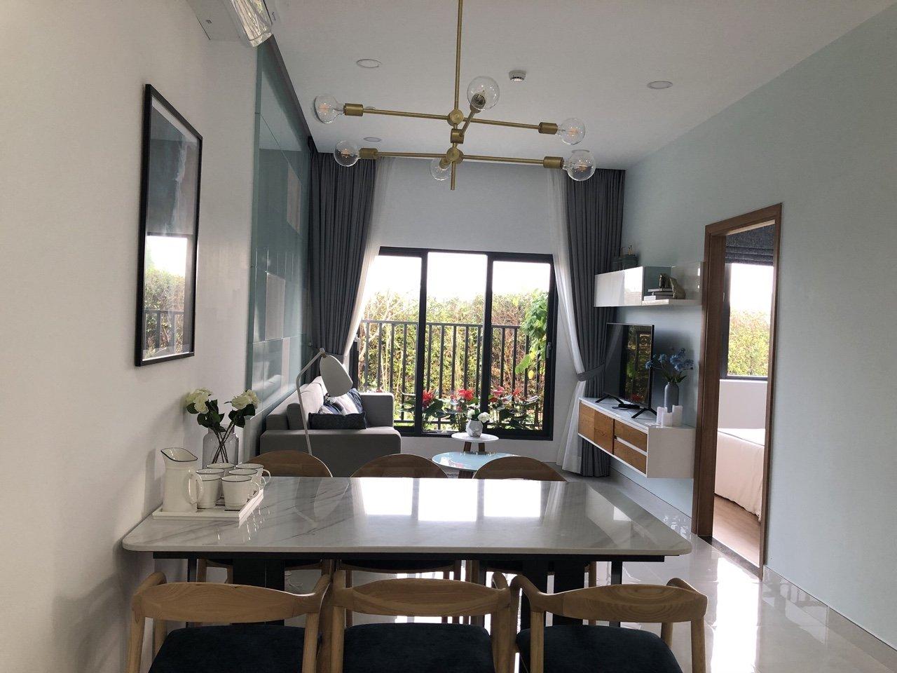 Phòng khách căn hộ mẫu Picity Thạnh Xuân