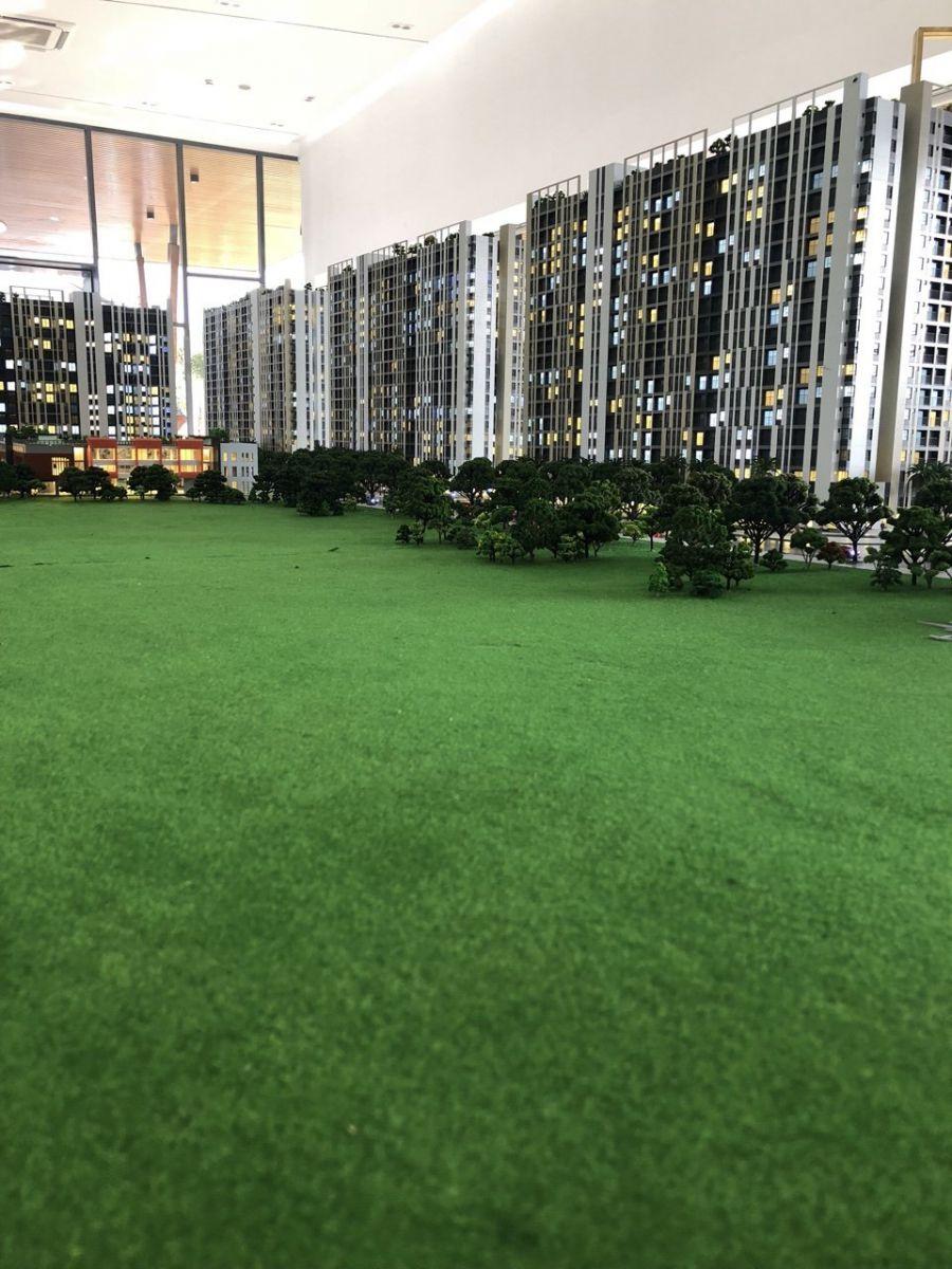 Nguyên mang xanh khá rộng tạo không gian sống hưởng thủ và nghĩ dưỡng của cư dân Picity