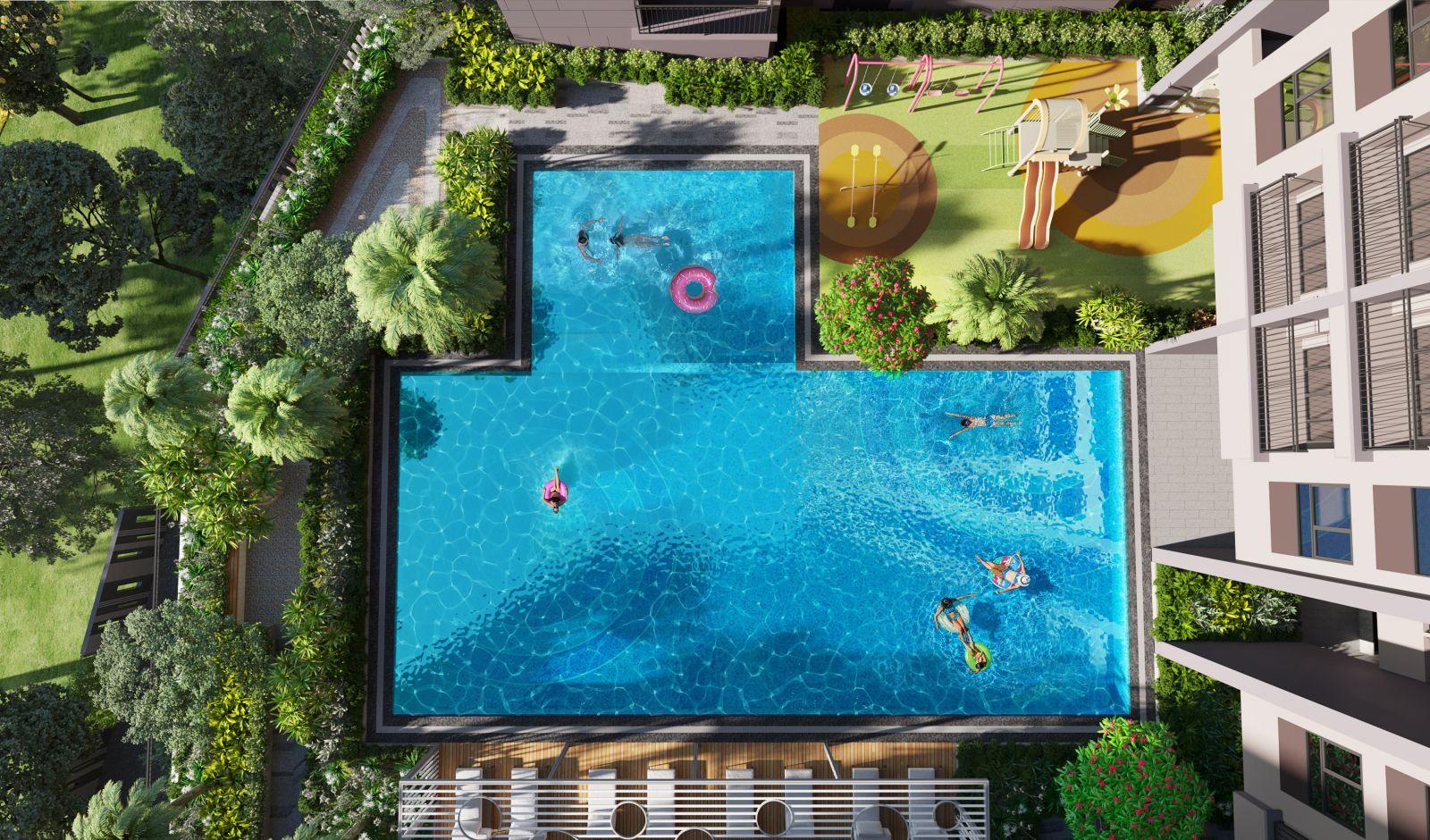 hồ bơi dụ án opal boulevard