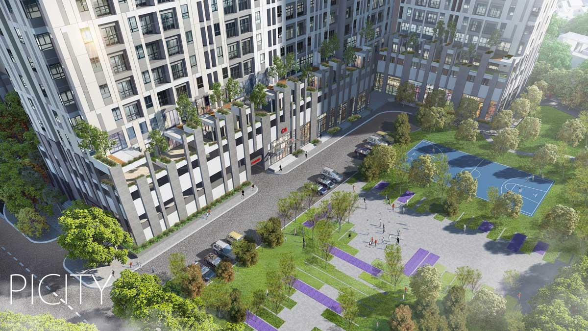Khu công viên nội khu của Dự án PiCity